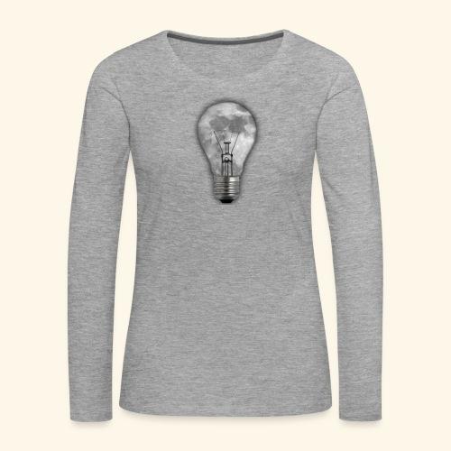 moon bulb - Camiseta de manga larga premium mujer