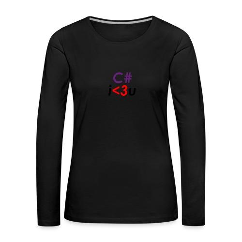 C# is love - Maglietta Premium a manica lunga da donna