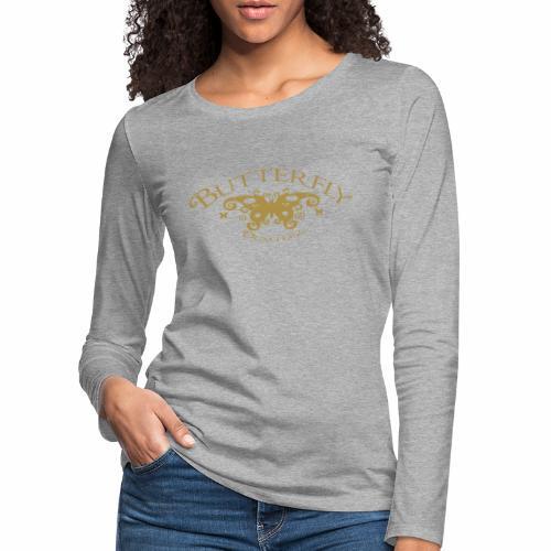 ButterflyVector2 ai - Vrouwen Premium shirt met lange mouwen