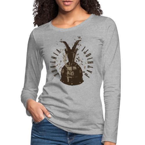Patrioti Vintage Skenderbeg - Frauen Premium Langarmshirt
