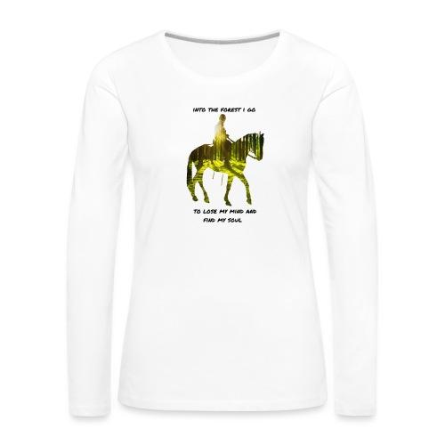 forest - Naisten premium pitkähihainen t-paita