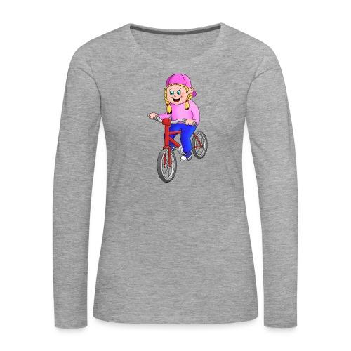 Radfahren Mädchen - Frauen Premium Langarmshirt