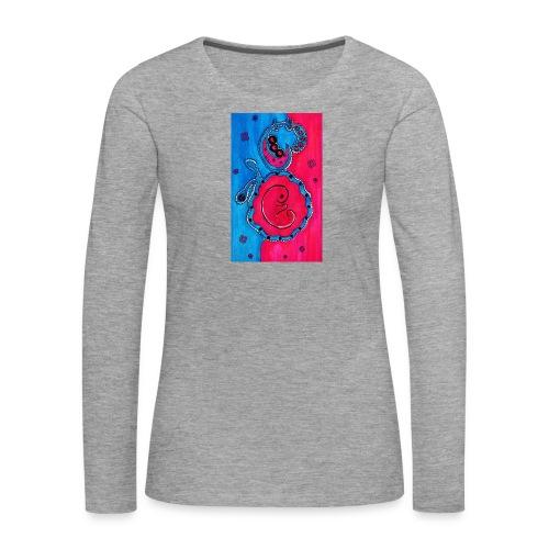 Born - Naisten premium pitkähihainen t-paita