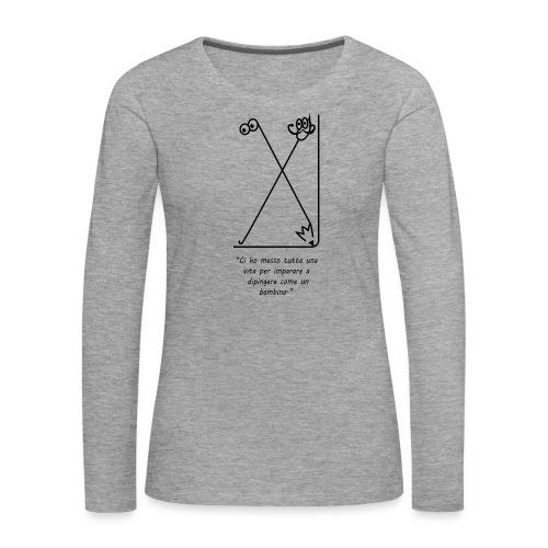 strumenti creativi - Maglietta Premium a manica lunga da donna