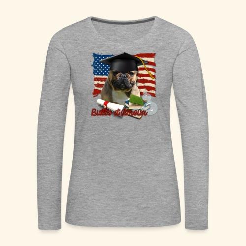 bouledogue étudiant - T-shirt manches longues Premium Femme