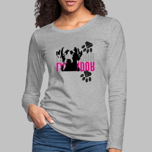 Labrador Kopf Pfoten - Frauen Premium Langarmshirt