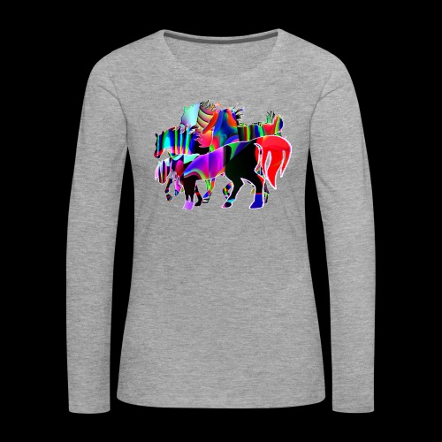 Die Familie - T-shirt manches longues Premium Femme