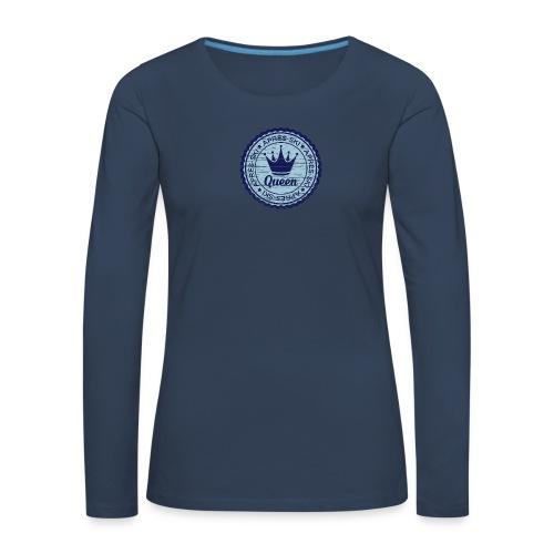 Apresski Queen Grunged Badge Shirt - Frauen Premium Langarmshirt