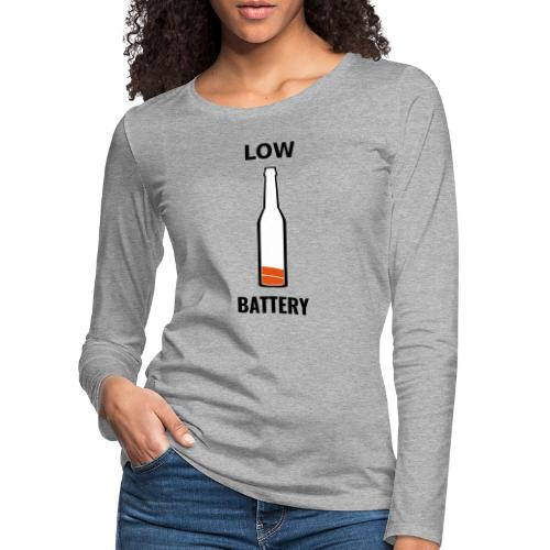 Beer Low Battery - T-shirt manches longues Premium Femme