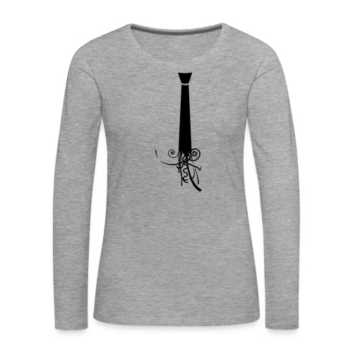 Krawatte - Frauen Premium Langarmshirt