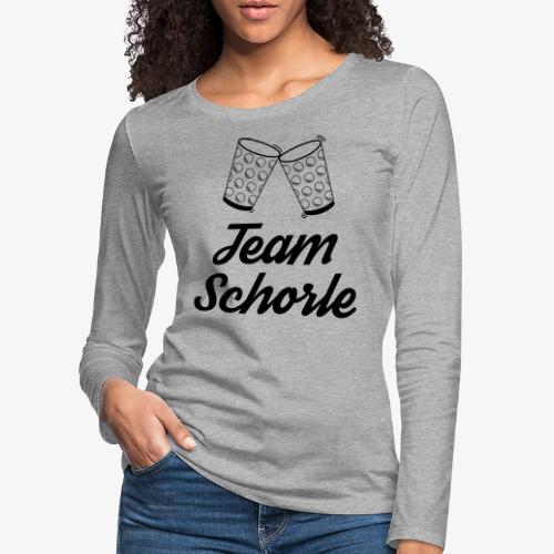 Team Schorle - Frauen Premium Langarmshirt