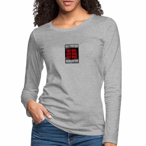 Motivation gym - Långärmad premium-T-shirt dam