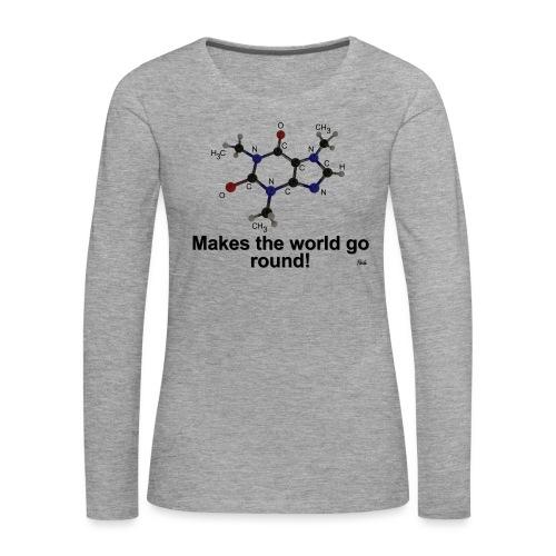Coffein - Frauen Premium Langarmshirt