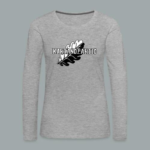 karpa logo photoshopattu - Naisten premium pitkähihainen t-paita