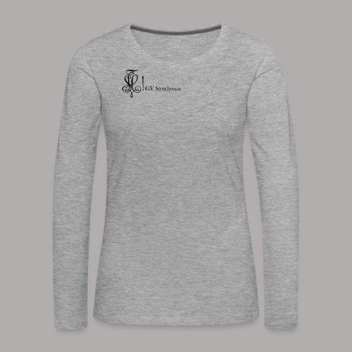 Zirkel mit Name, schwarz (vorne) - Frauen Premium Langarmshirt