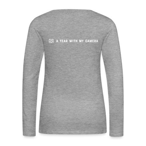 White AYWMC logo & text single line - Women's Premium Longsleeve Shirt