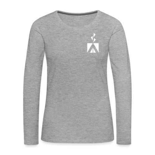 humina_logo_70mm - Naisten premium pitkähihainen t-paita