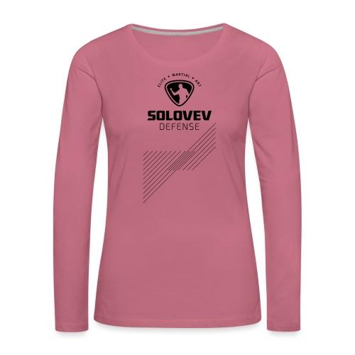 SD EMA back black - Frauen Premium Langarmshirt