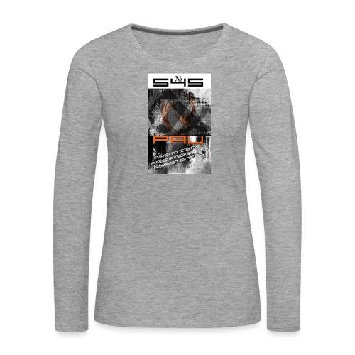 Logo 1 - Dame premium T-shirt med lange ærmer