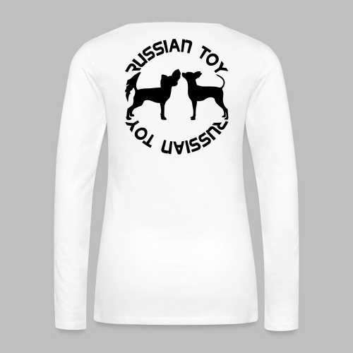 koirasilhuetti teksti - Naisten premium pitkähihainen t-paita