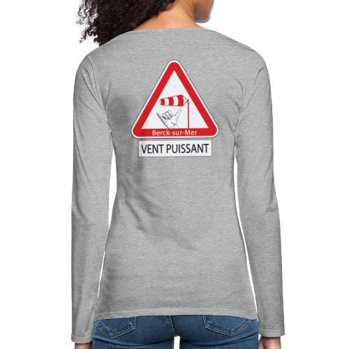 Berck-sur-mer: Vent puissant II - T-shirt manches longues Premium Femme