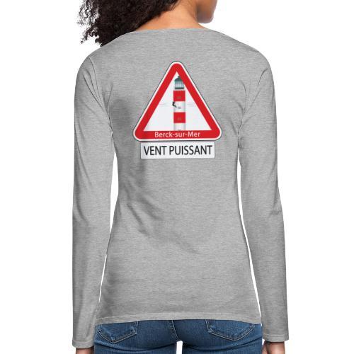 Berck sur mer :Vent puissant I - T-shirt manches longues Premium Femme
