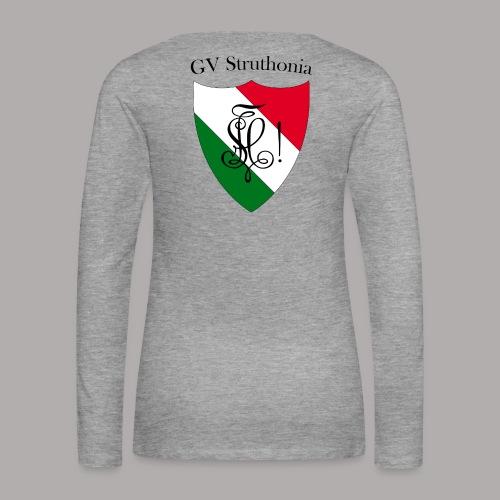 Wappen Struthonia beschriftet - Frauen Premium Langarmshirt