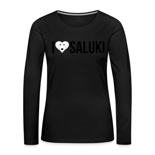 I Love Saluki - Maglietta Premium a manica lunga da donna