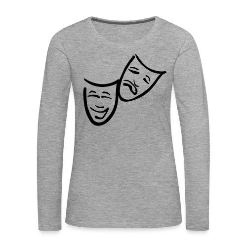 Theatermasken - Frauen Premium Langarmshirt