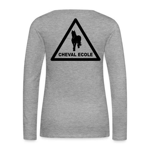 chevalecoletshirt - T-shirt manches longues Premium Femme