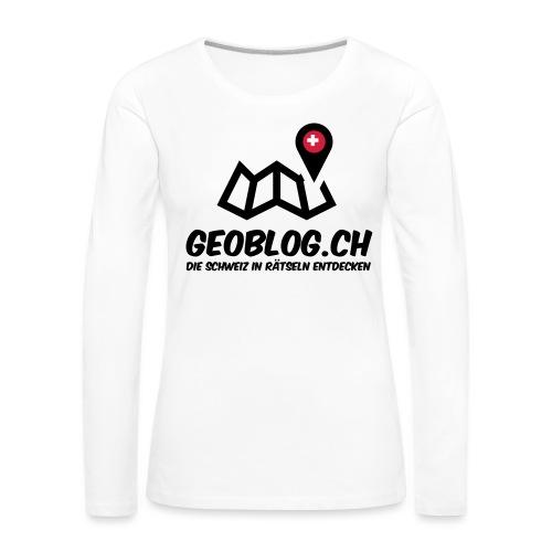 Logo+Schriftzug-hoch - Frauen Premium Langarmshirt