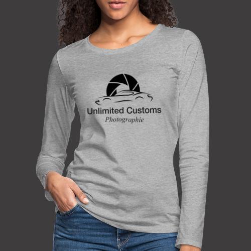 Logo schwarz4k - Frauen Premium Langarmshirt