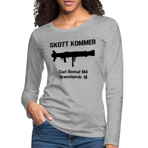 SKOTT KOMMER - KLART BAKÅT - SWE Flag - Långärmad premium-T-shirt dam