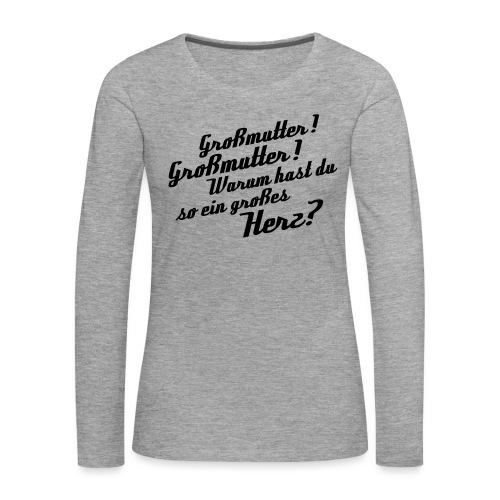 Großmutter - Vorderseite - Frauen Premium Langarmshirt