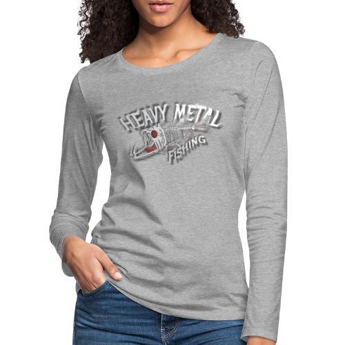heavy metal fishing white - Frauen Premium Langarmshirt