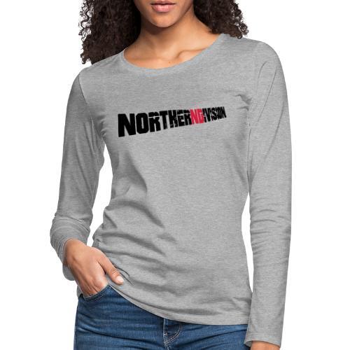 nd badg 2vari perspective - Naisten premium pitkähihainen t-paita