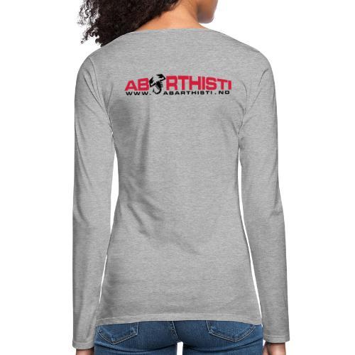 abarthlogored - Premium langermet T-skjorte for kvinner