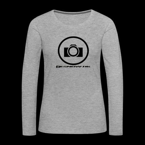 sort2 png - Dame premium T-shirt med lange ærmer