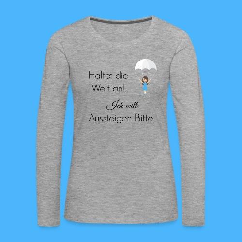 Fallschirm schwarz - Frauen Premium Langarmshirt