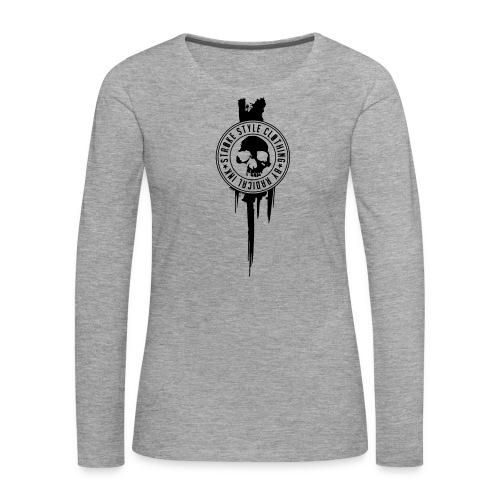 patch stroke pfade - Frauen Premium Langarmshirt