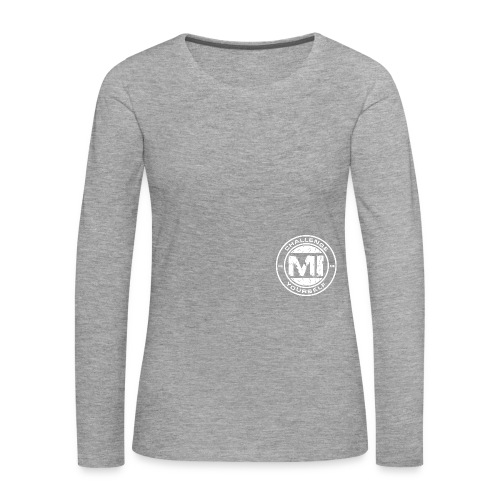 Logo Rund White - Frauen Premium Langarmshirt