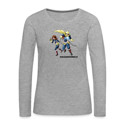1+1=2Eine gute Connection - Frauen Premium Langarmshirt