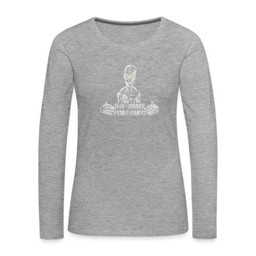 Dark Corridor Logo in Standardgröße mit Schriftzug - Frauen Premium Langarmshirt