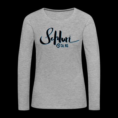 Schluri - Frauen Premium Langarmshirt