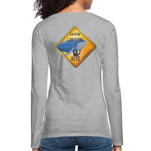 Roadsign Attention cerf-volant à basse altitude - T-shirt manches longues Premium Femme