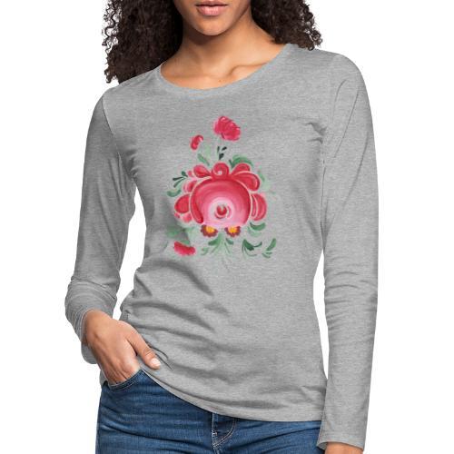 Ostfriesische Rose - Frauen Premium Langarmshirt