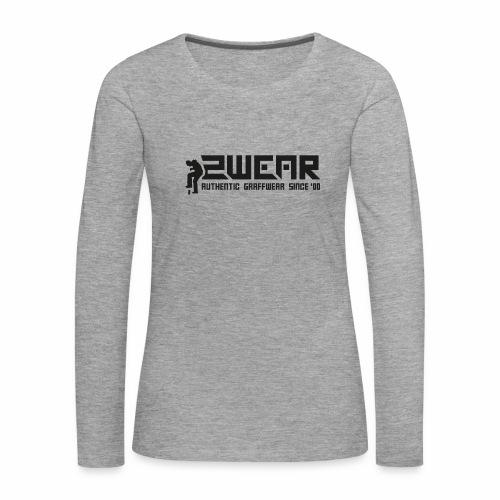 2wear org tagline logo ver01 - Dame premium T-shirt med lange ærmer