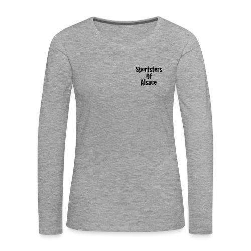 New_logo_poitrine2 - T-shirt manches longues Premium Femme