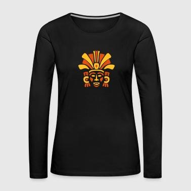 maya maske _3 - Frauen Premium Langarmshirt