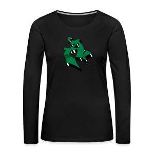 Colored Graffiti 3D Block Letter A 2 - Frauen Premium Langarmshirt